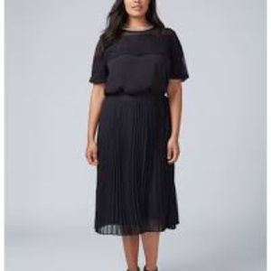 Lane Bryant Pleated Chiffon midi skirt - Size18/20
